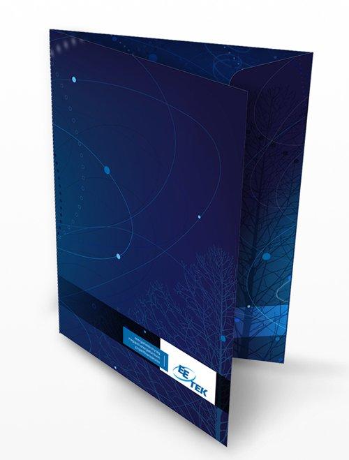 佛山画册设计案例:蓝色科技宣传册设计-1