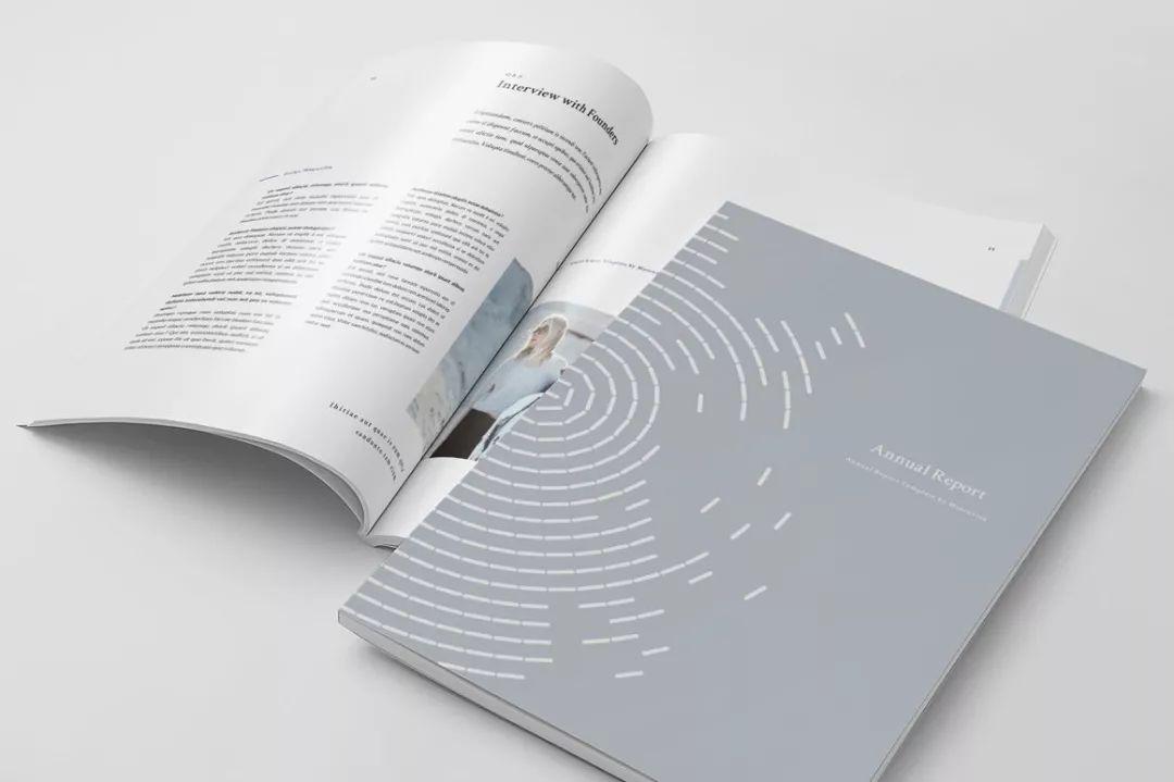 简洁画册排版设计