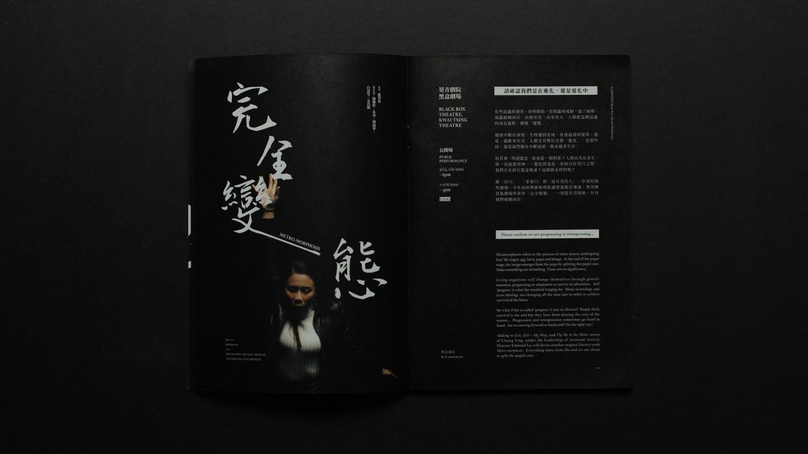 超酷黑色主题企业宣传册设计