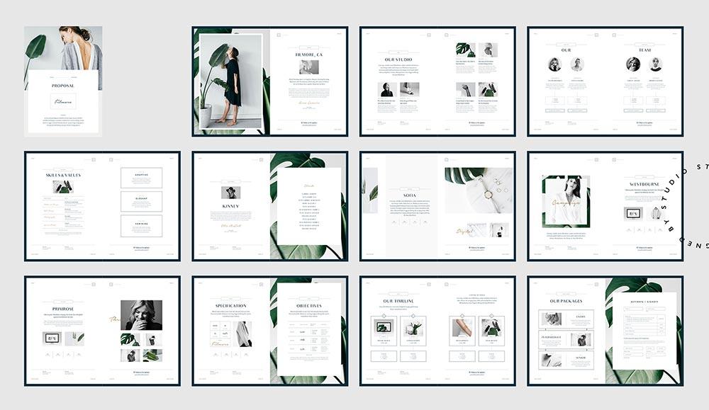 现代风格画册设计